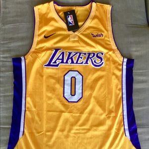 Kyle Kuzma Gold Men's Stitched Lakers Jersey